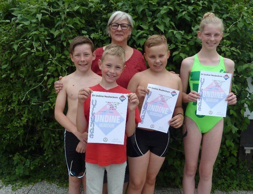 16. und 17. Juni 2018 – TVE Schwimmer beim 43. Harberg Pokal in Neubeckum