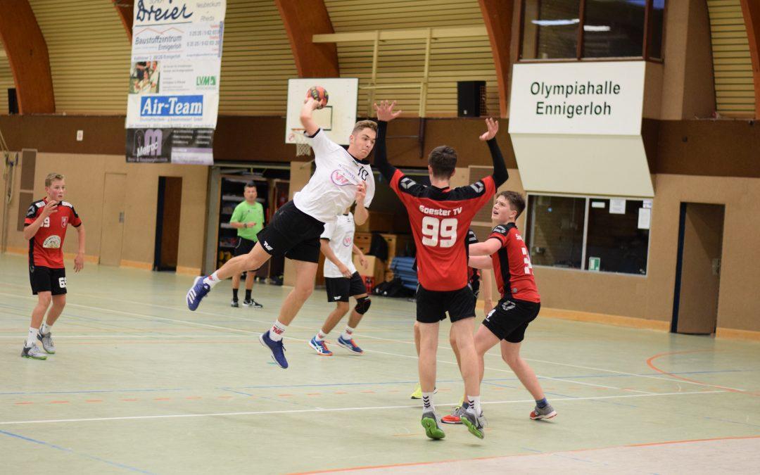 Oberligaaufstieg perfekt – TVE-B-Jugend bezwingt Soester TV mit 45:20 Ennigerloh